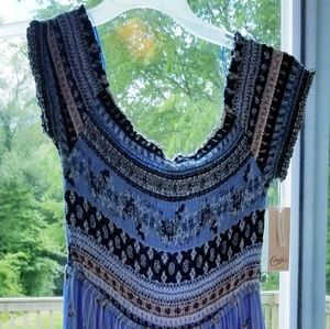 Candie's smocked maxi romper